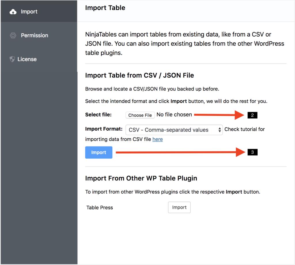 WtodPress table plugin ninja Tables