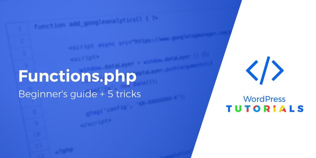 What is functions.php in WordPress 2
