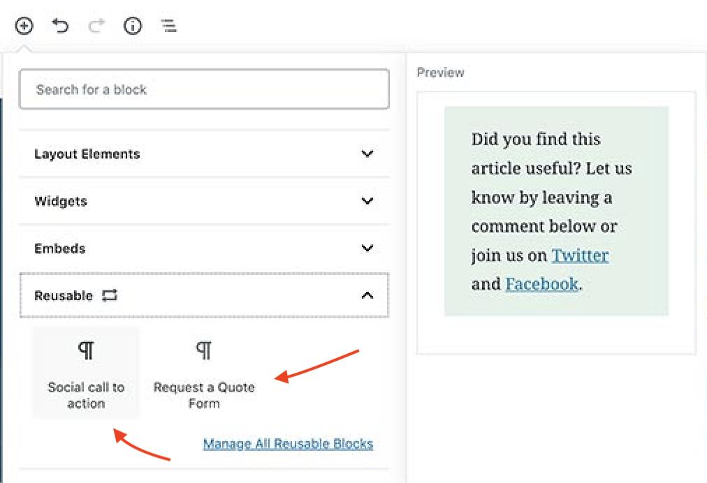 reusable block