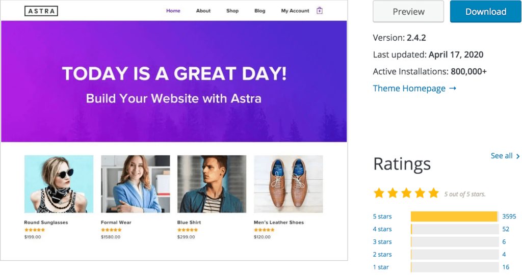 astra pro theme features